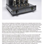 2013 - The Ear Review - PrimaLuna DiaLogue Premium Integrated Amplifier