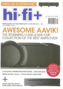 2016 - Hi-Fi+ Review - Dan D'Agostino Momentum Integrated Amplifier