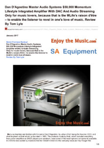 2017 - Enjoy The Music Review - Dan D'Agostino Momentum Lifestyle Integrated Amplifier