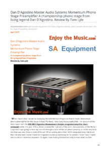 2017 - Enjoy The Music Review - Dan D'Agostino Momentum Phonostage