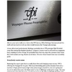 2018 - Tone Publications Review - VPI Voyager Phonostage