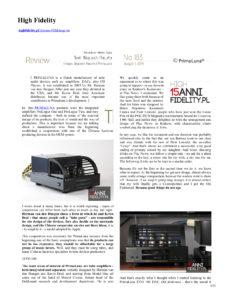 2019 - High Fidelity Review - PrimaLuna EVO 100 DAC