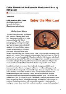 2001 - Enjoy The Music Review - Kimber Kable KS 1011