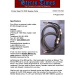 2002 - Stereo Times Review - Kimber Kable KS 3038